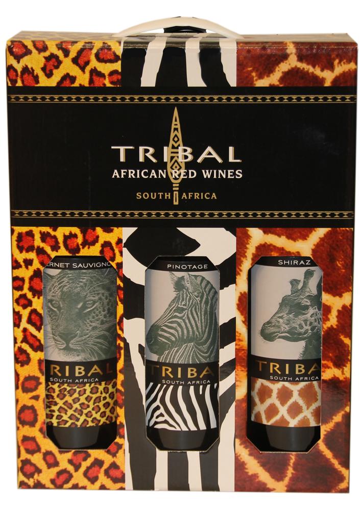 Geschenkbox Rotwein - Tribal Skin - 2012