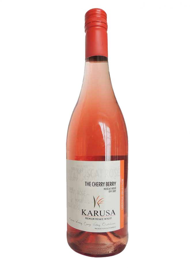 Ein halbtrockener Rosewein mit intensiven Kirscharoma